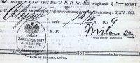 fragment dokumentu z 1939 roku