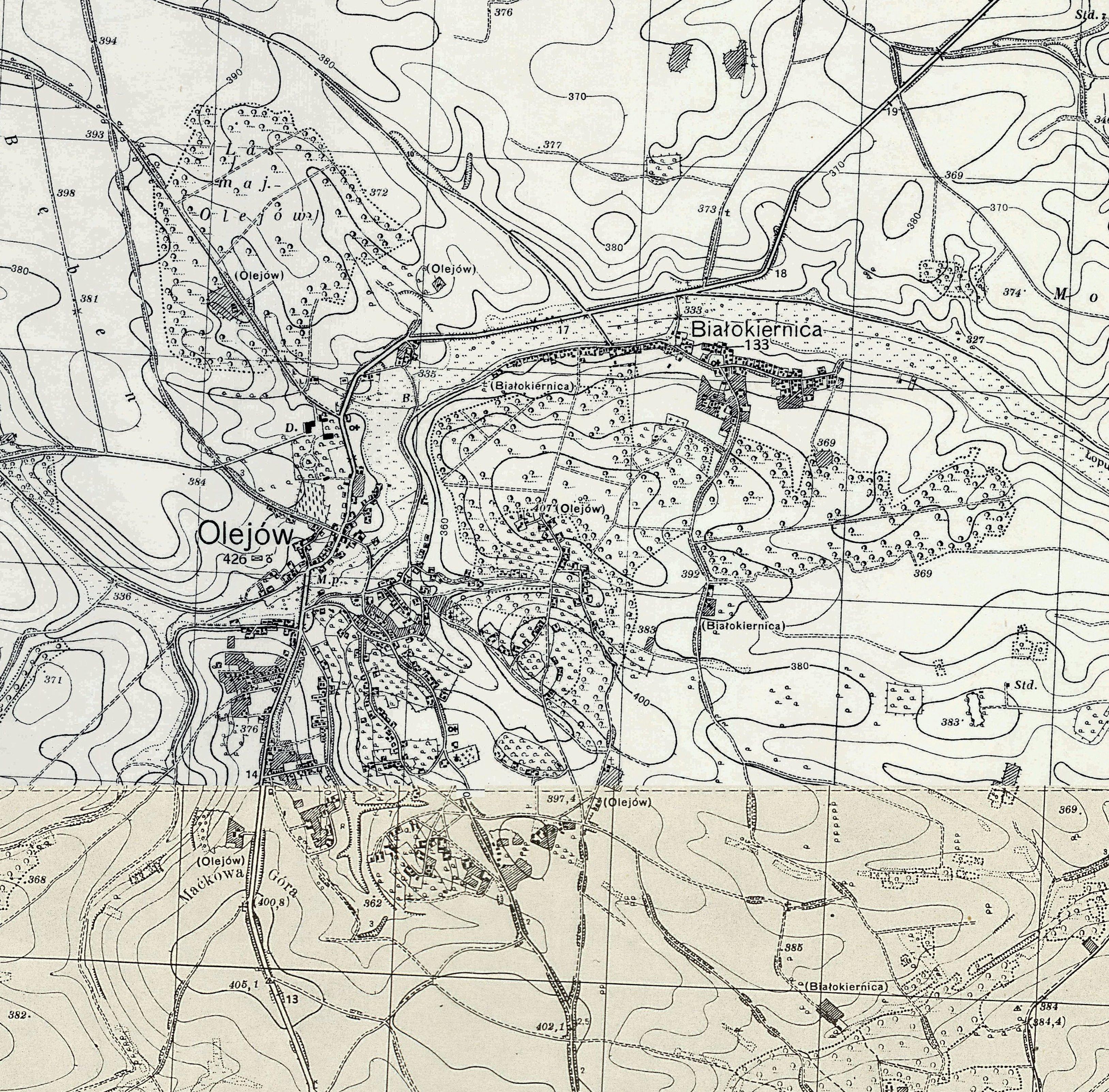Stare Mapy Olejów Na Podolu